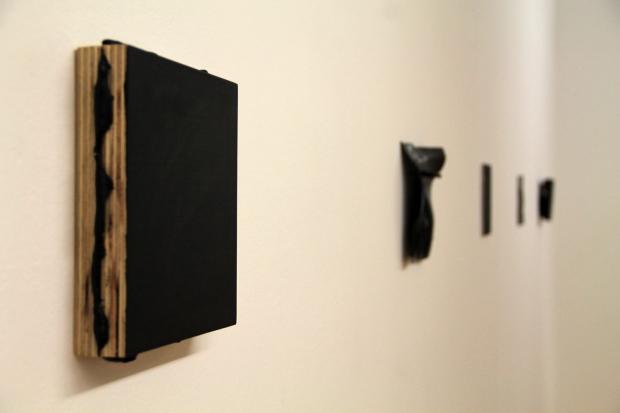 Vistas de la exposición MISHA BIES GOLAS. 27 Negros. (16 Abril - 15 Junio, 2014).  CGAC, Santiago de Compostela.