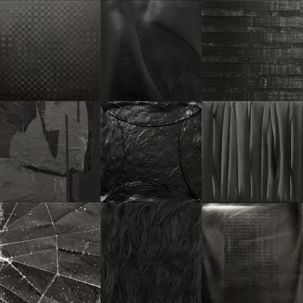 Recreación en mosaico de las obras de la exposición MISHA BIES GOLAS. 27 Negros.  (16 Abril - 15 Junio, 2014). CGAC, Santiago de Compostela.